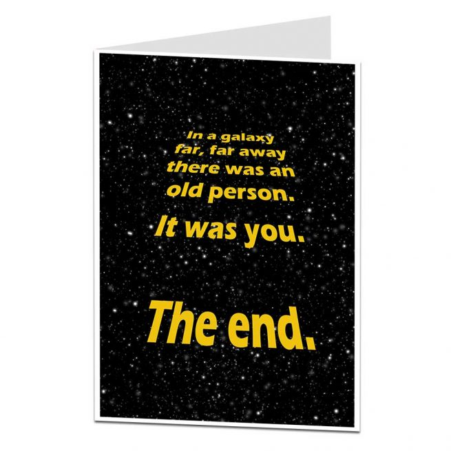 In A Galaxy Far Away Birthday Card