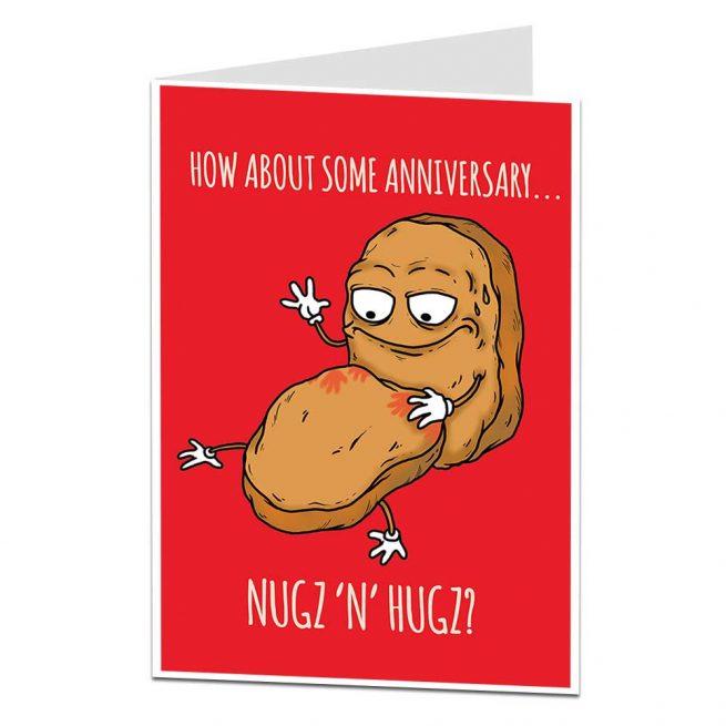 Nugz N Hugz Anniversary Card