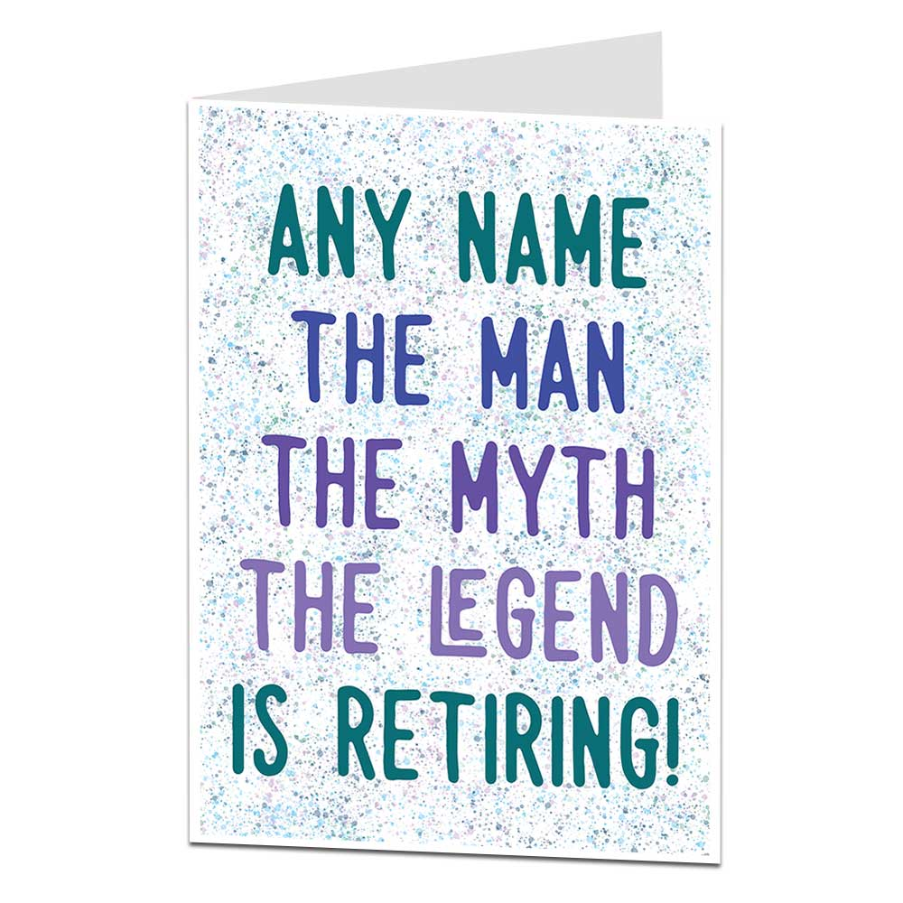 Personalised Retirement Card For Men