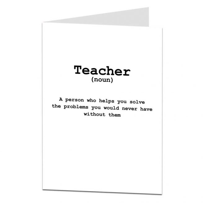Funny Thank You Teacher College University Lecturer Card