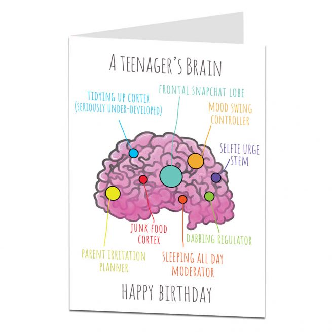 Funny Teenager Birthday Card