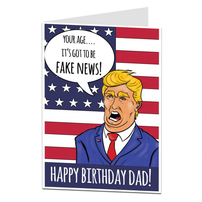 Birthday Card For Dad Fake News