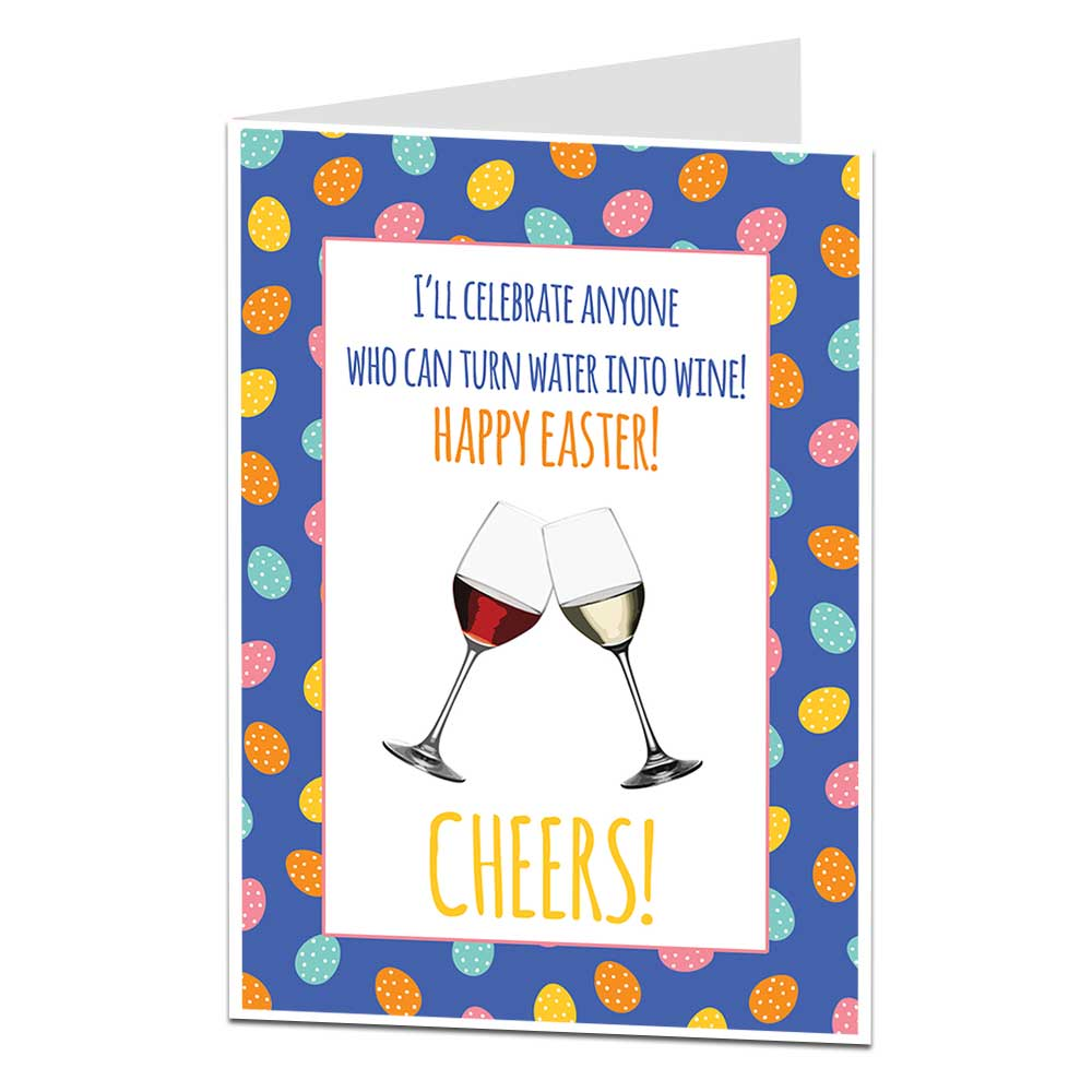 water in to wine funny Easter card
