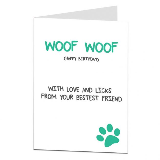 Birthday Card From The Dog With Love Licks