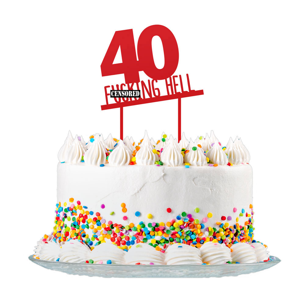 Incredible 40Th Birthday Cake Topper Party Decorations 40 Today For Men Funny Birthday Cards Online Overcheapnameinfo