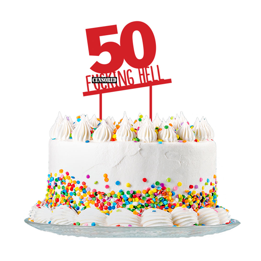 Groovy 50Th Birthday Cake Topper Party Decorations 50 Today For Men Funny Birthday Cards Online Alyptdamsfinfo