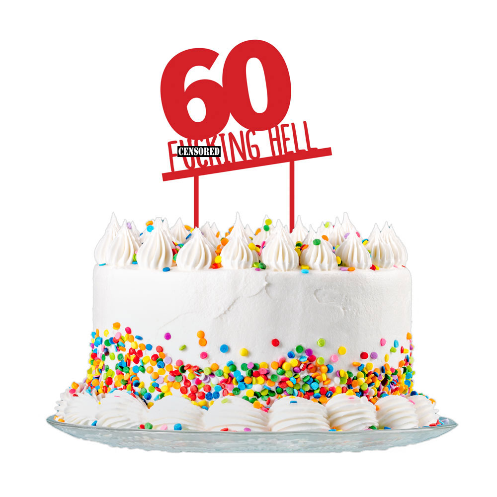 Astonishing 60Th Birthday Cake Topper Party Decorations 60 Today For Men Personalised Birthday Cards Sponlily Jamesorg