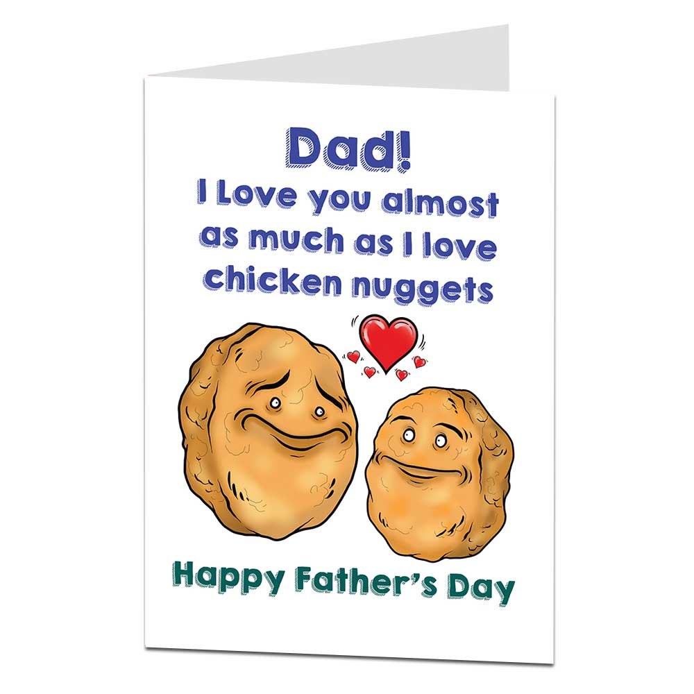 Chicken Nugget Father's Day Card