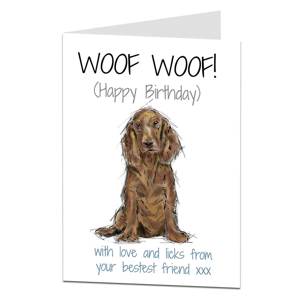Details about Cocker Spaniel Birthday Card From The Dog For The Owner &  Lover