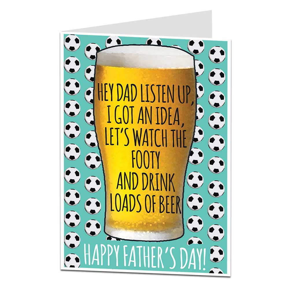 Football & Beer Father's Day Card