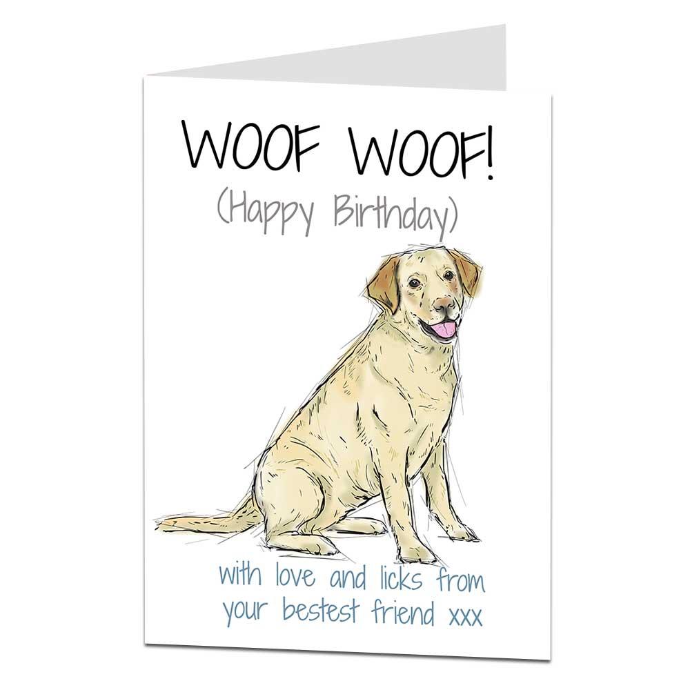 Labrador Birthday Card Woof