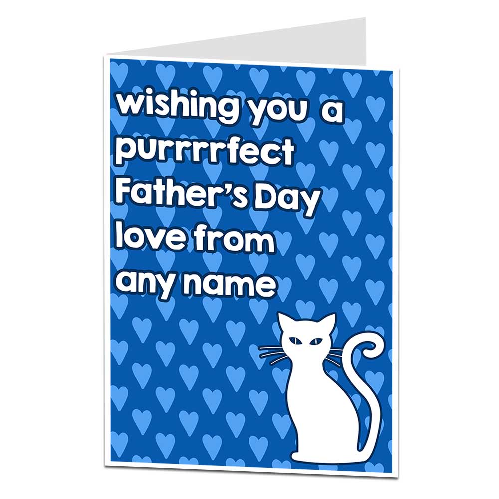 Personalised Cat Father's Day Card