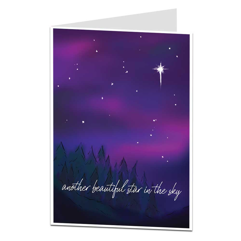 Star In The Sky Sympathy Card