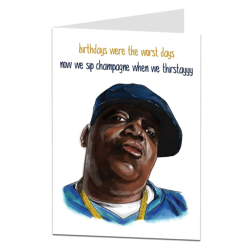 Biggie Smalls Birthday Card