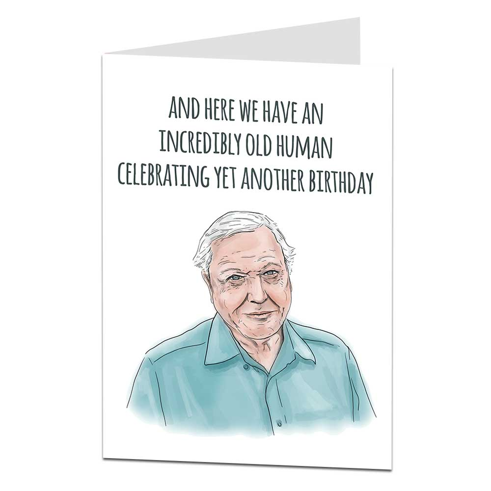 David Attenborough Birthday Card