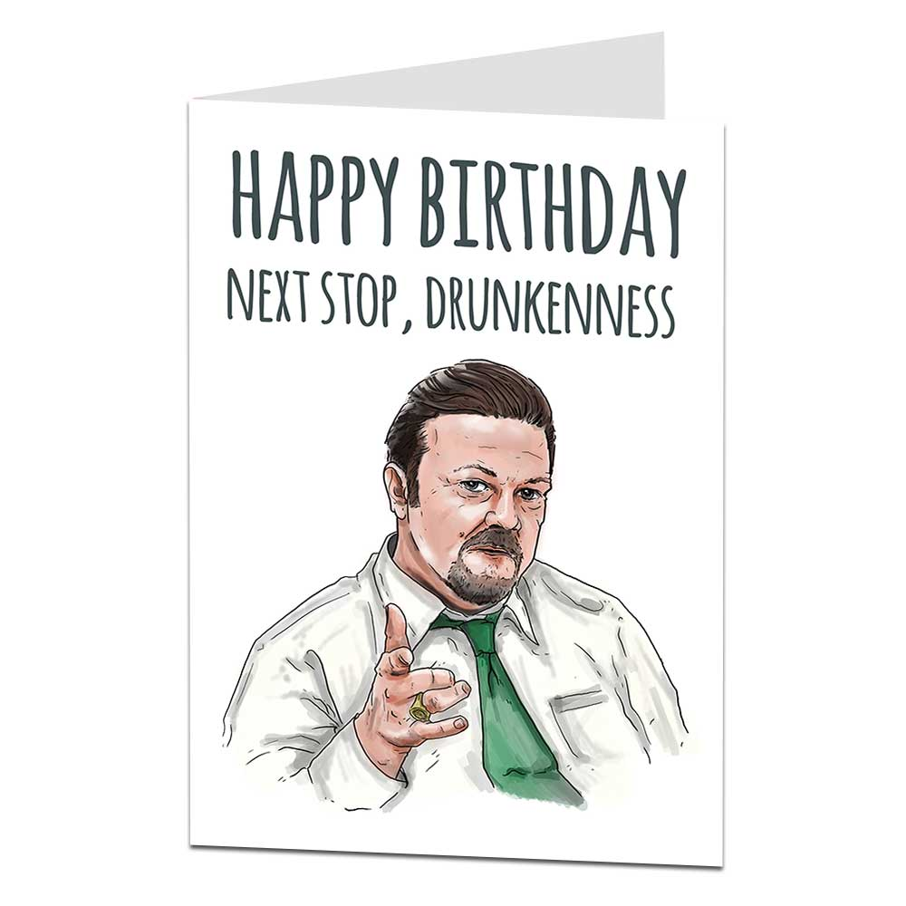 David Brent Birthday Card