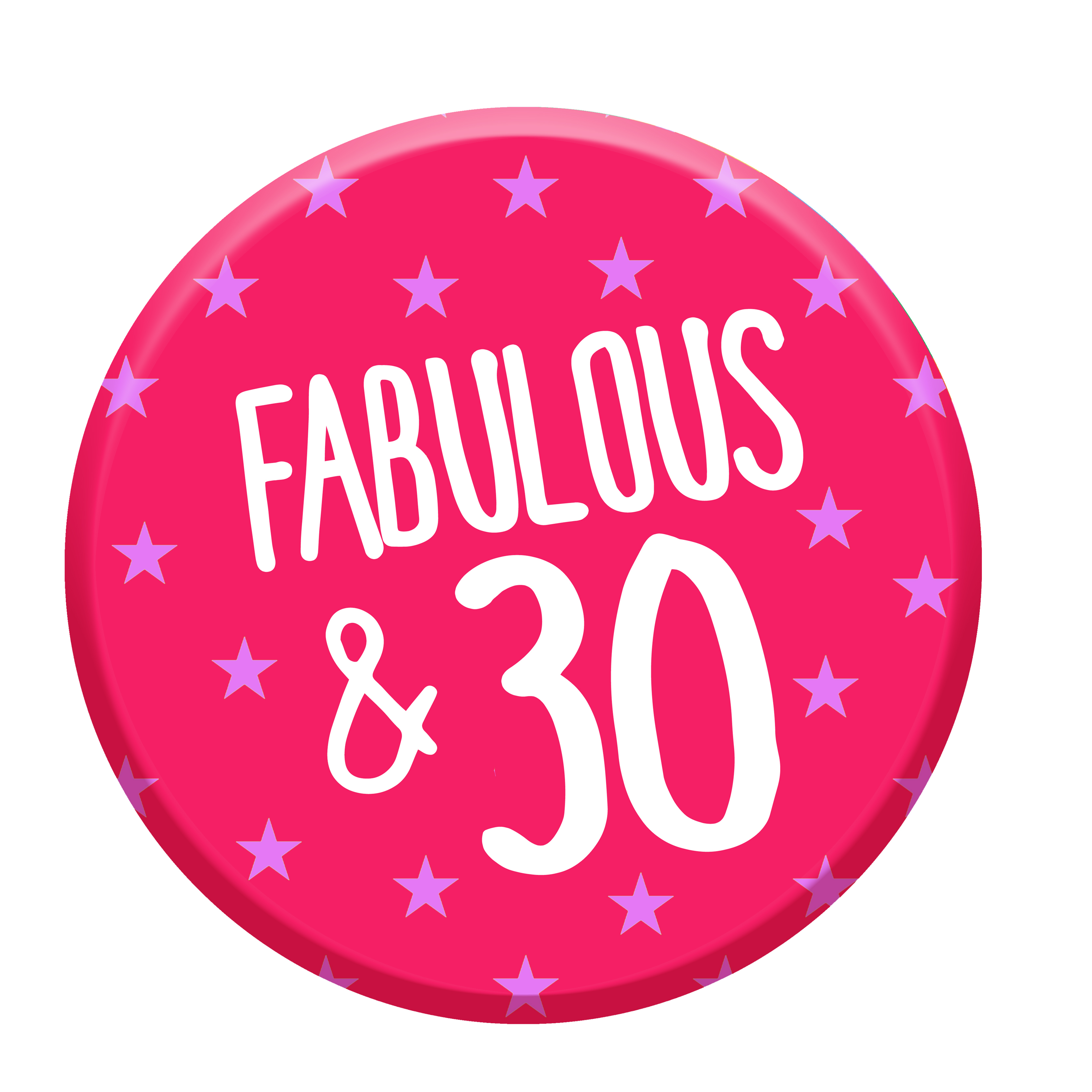 30th birthday badge