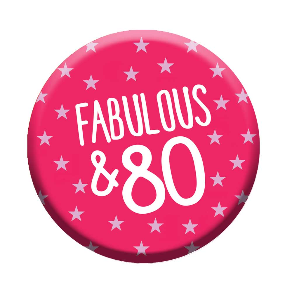 80th birthday badge