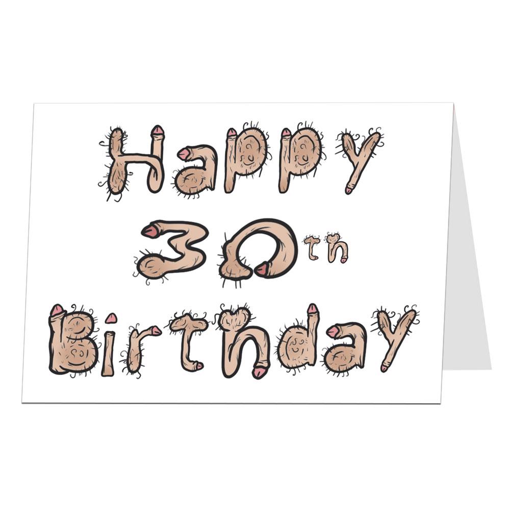 Rude 30th Birthday Card