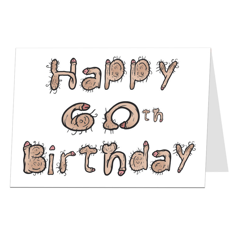60th Birthday Card Willy Font
