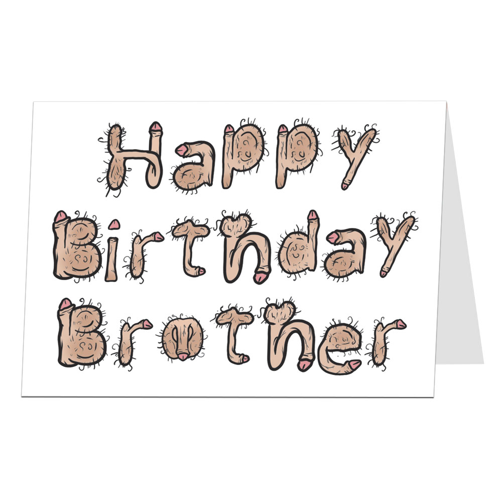 Brother Birthday Card Willy Font