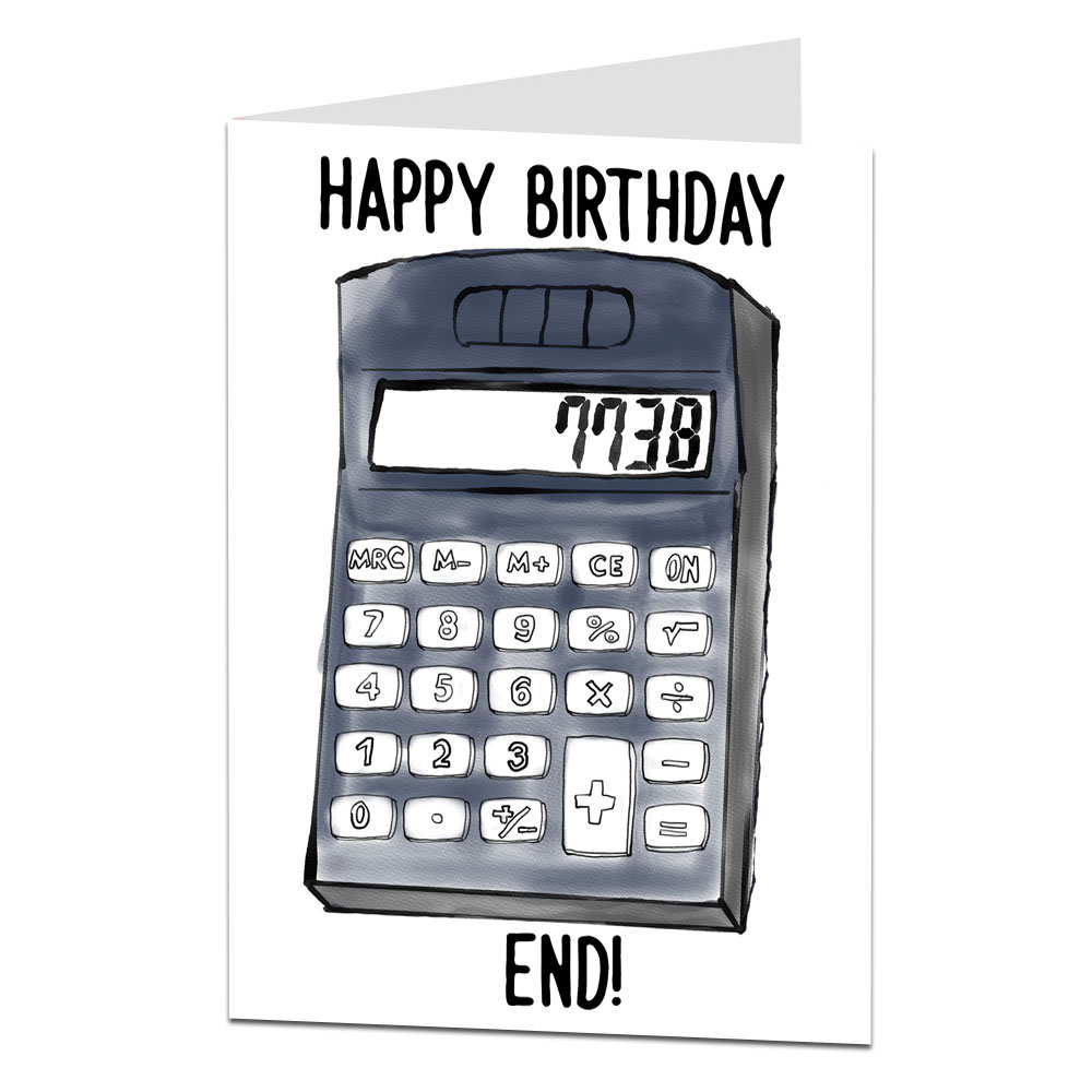 Image Of Offensive Calculator Birthday Card