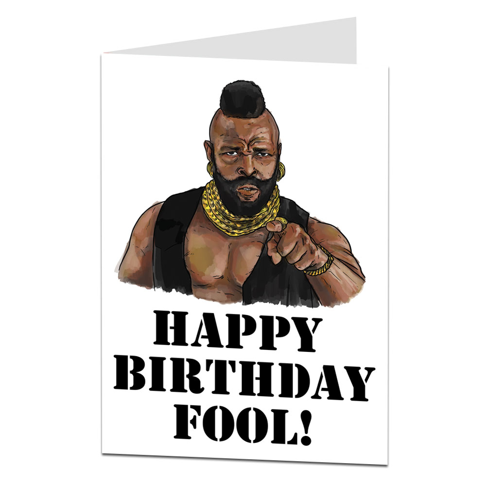 Image Of Mr T Birthday Card