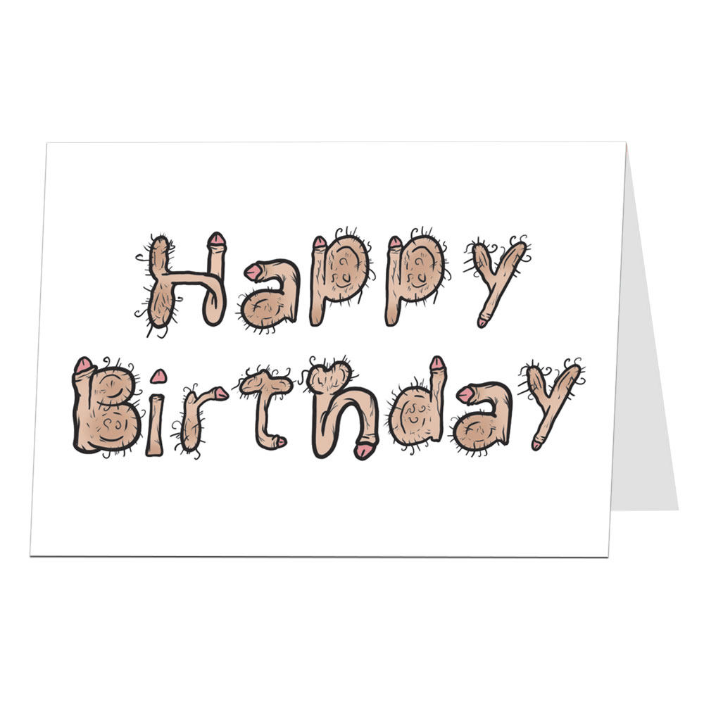 Happy Birthday Card Willy Font