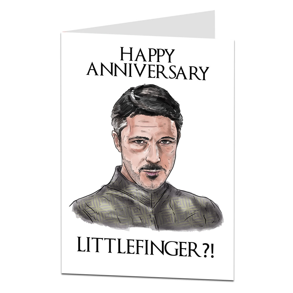 Image Of Littlefinger Anniversary Card