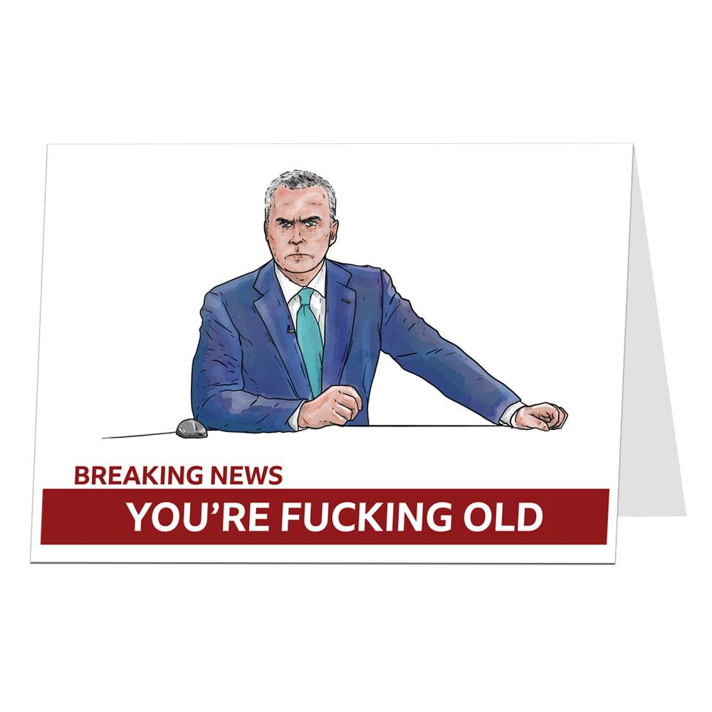 Breaking News Birthday Card