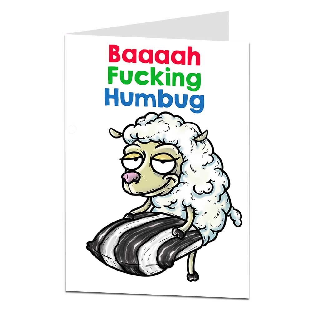 Bah Humbug Christmas Card