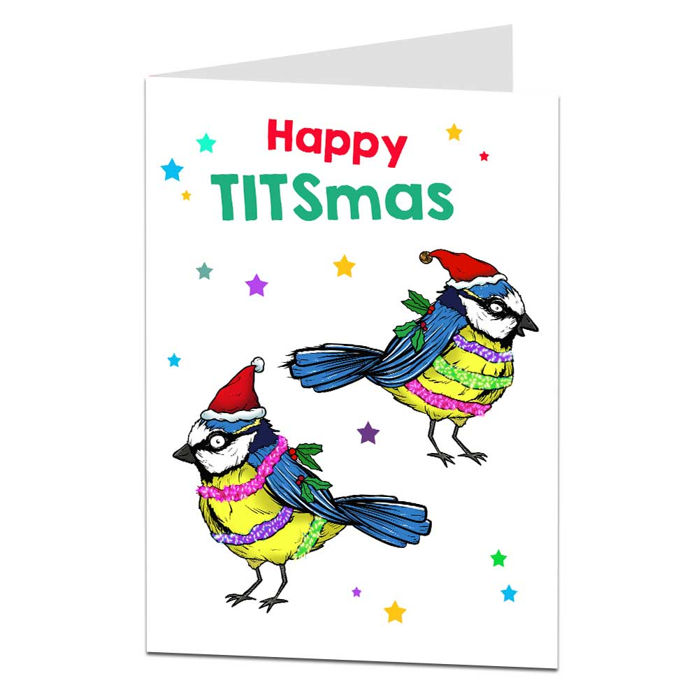 Happy Titsmas Christmas Card