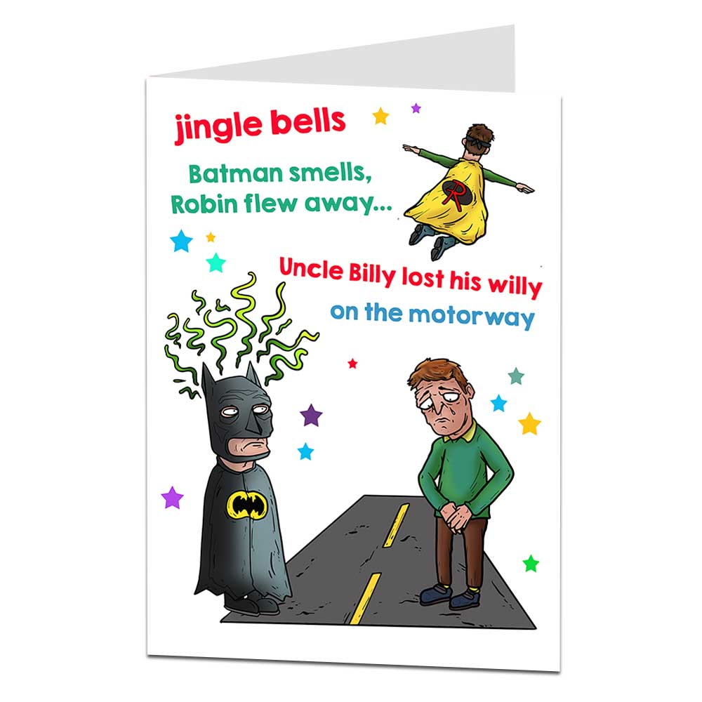 Jingle Bells Batman Smells Christmas Card