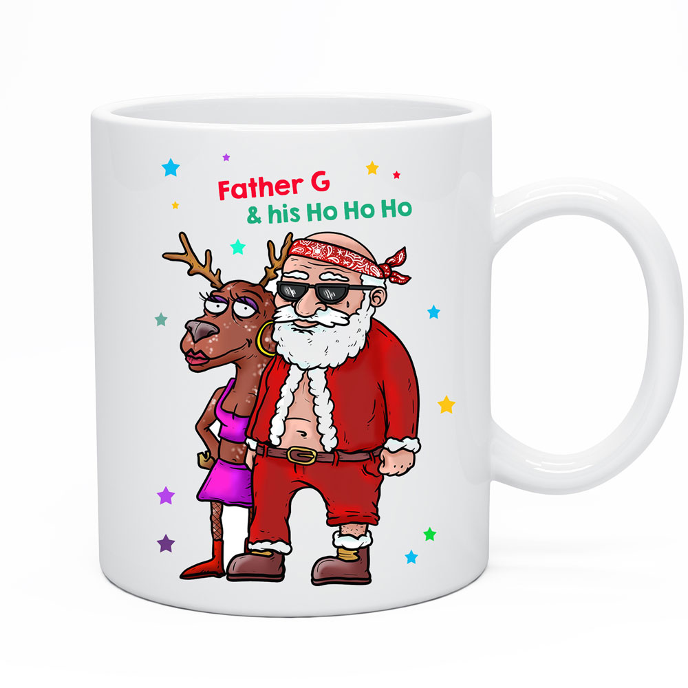 Cool Christmas Mug Funny Santa Coffee Cup