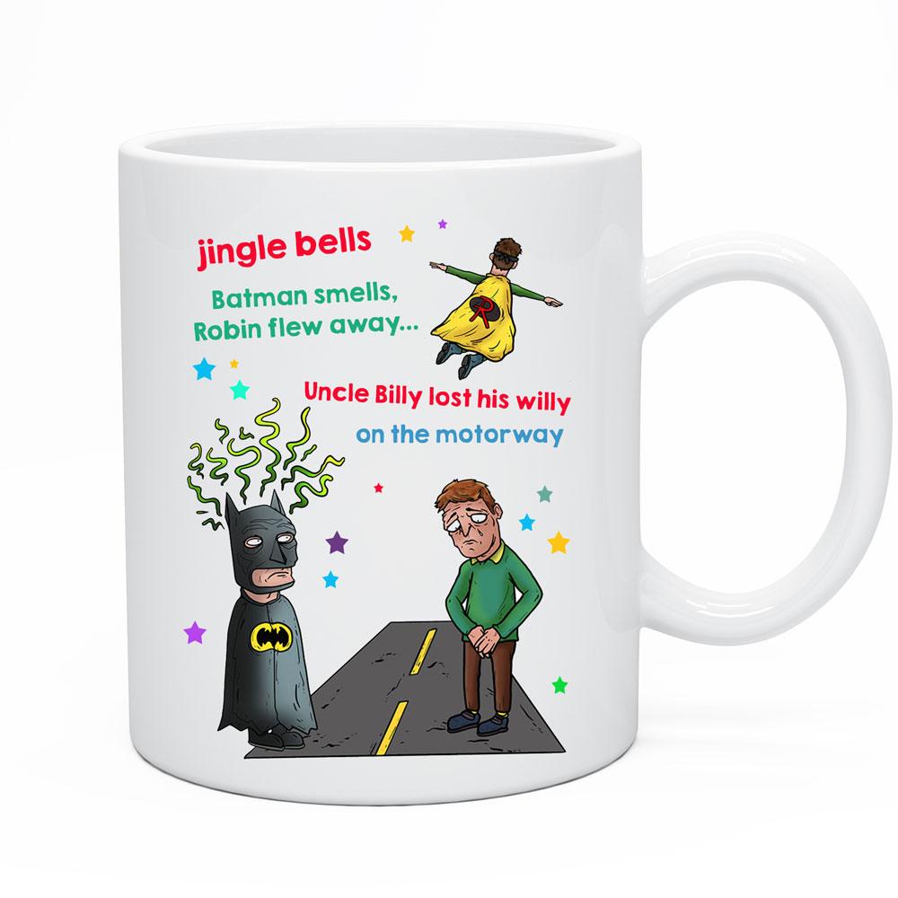 Christmas Coffee Cup Funny Rude Jingle Bells