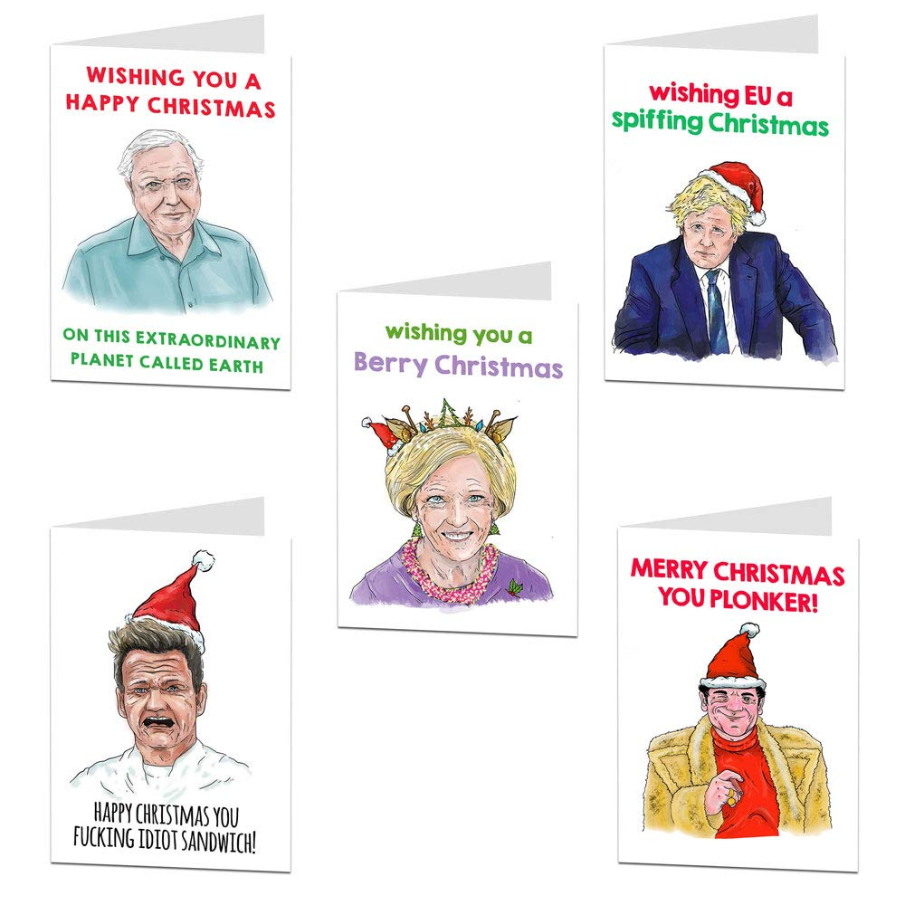 Funny Christmas Card Multipack for Adults 10 Cheeky Cards