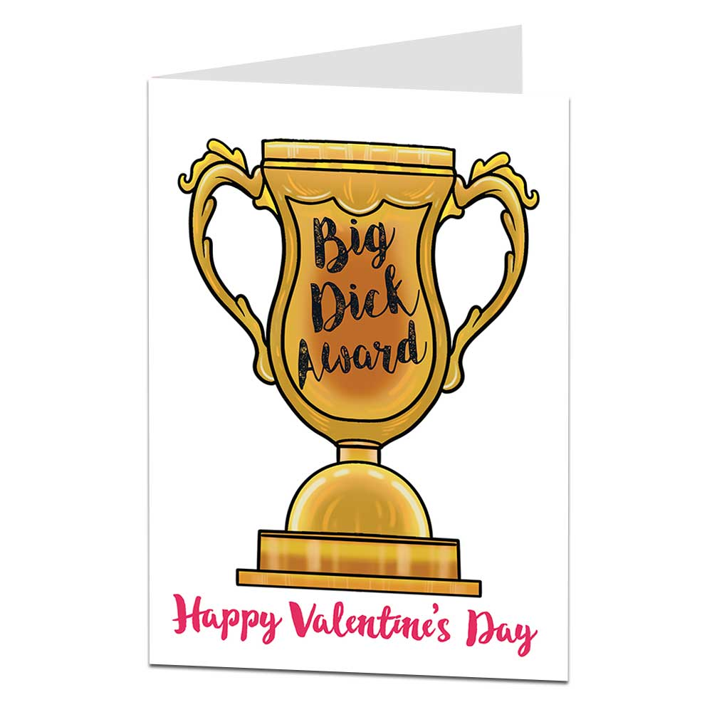 Big Dick Award Valentine's Card
