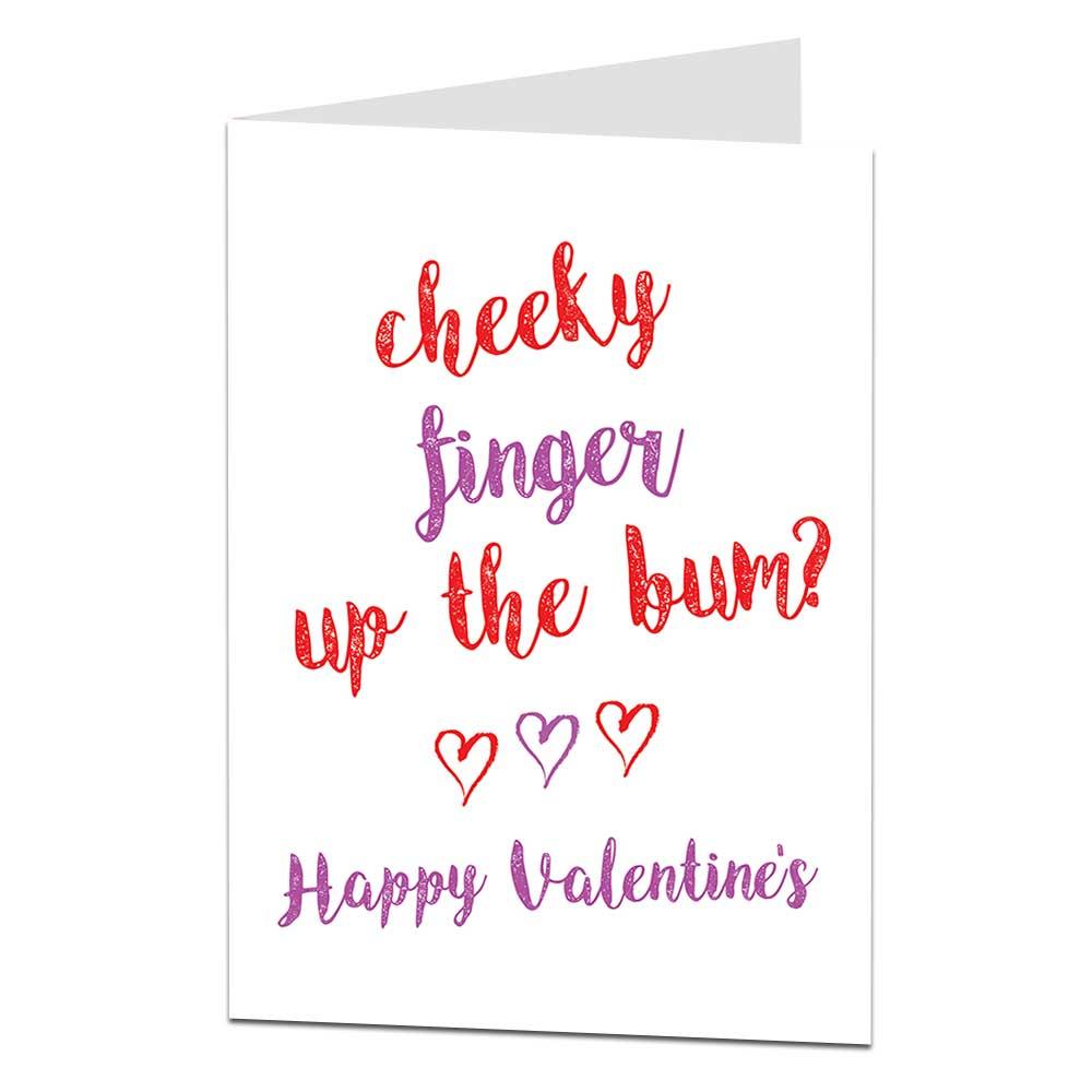 Cheeky Finger Valentine's Card