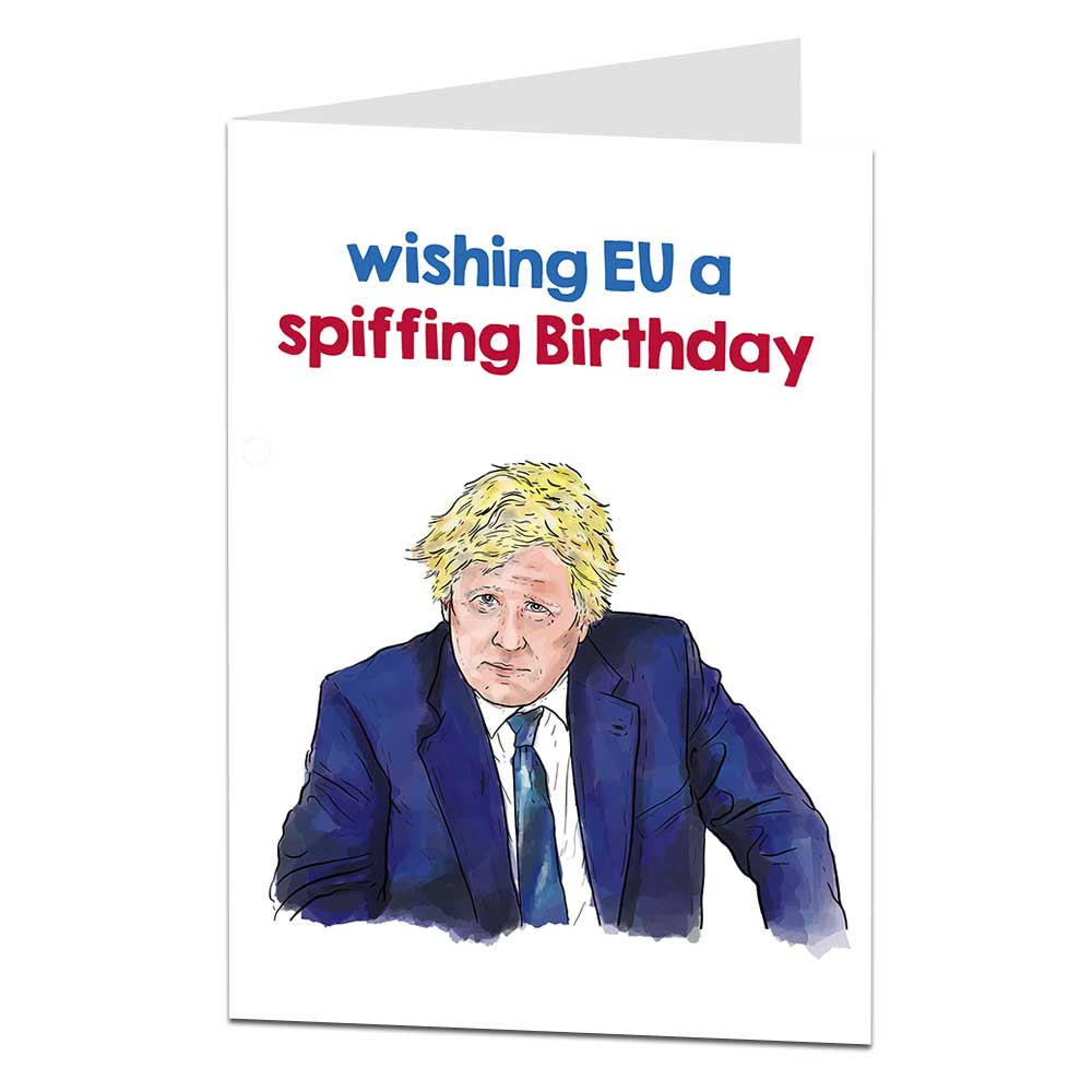 Boris Johnson Birthday Card