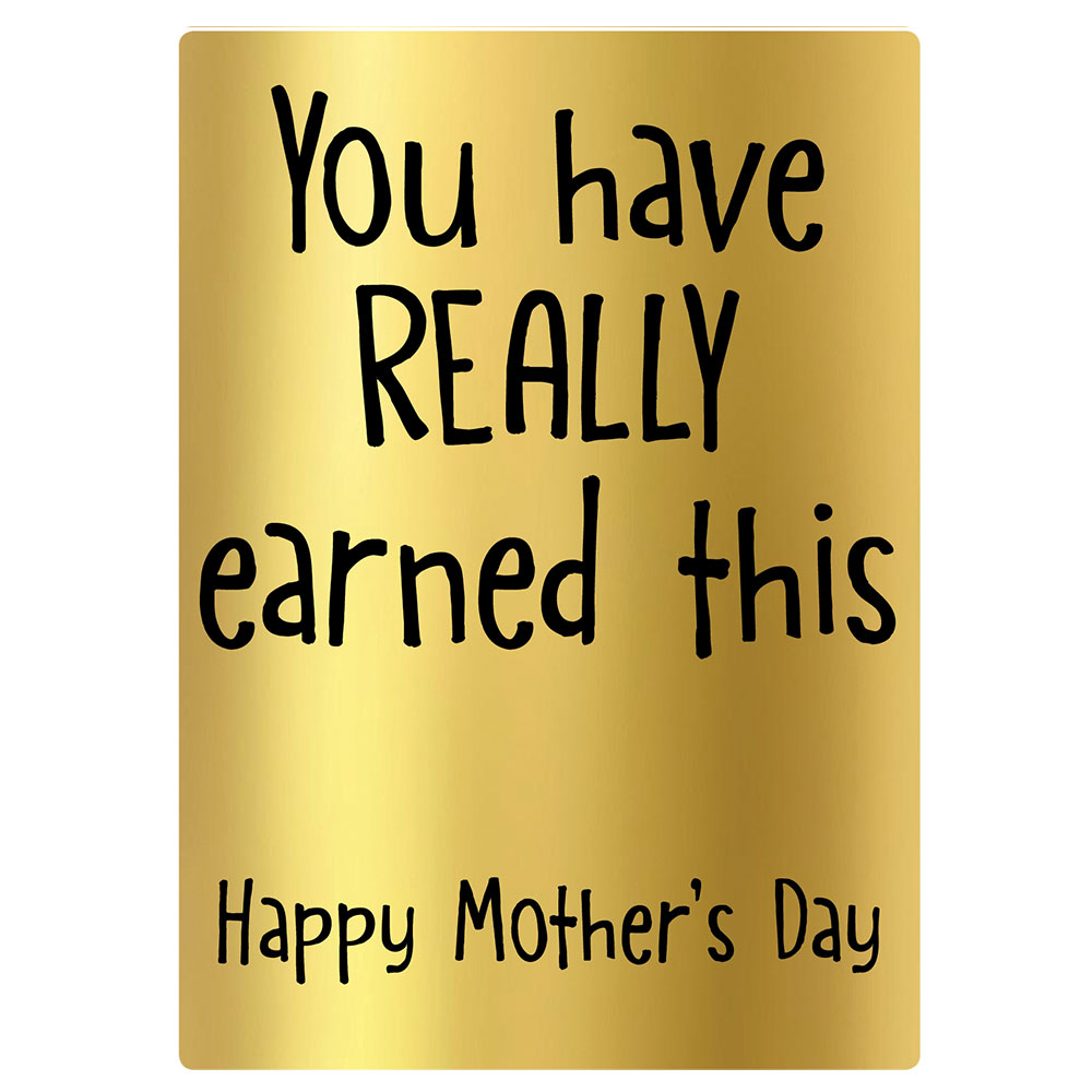 earned this mothers day wine bottle label