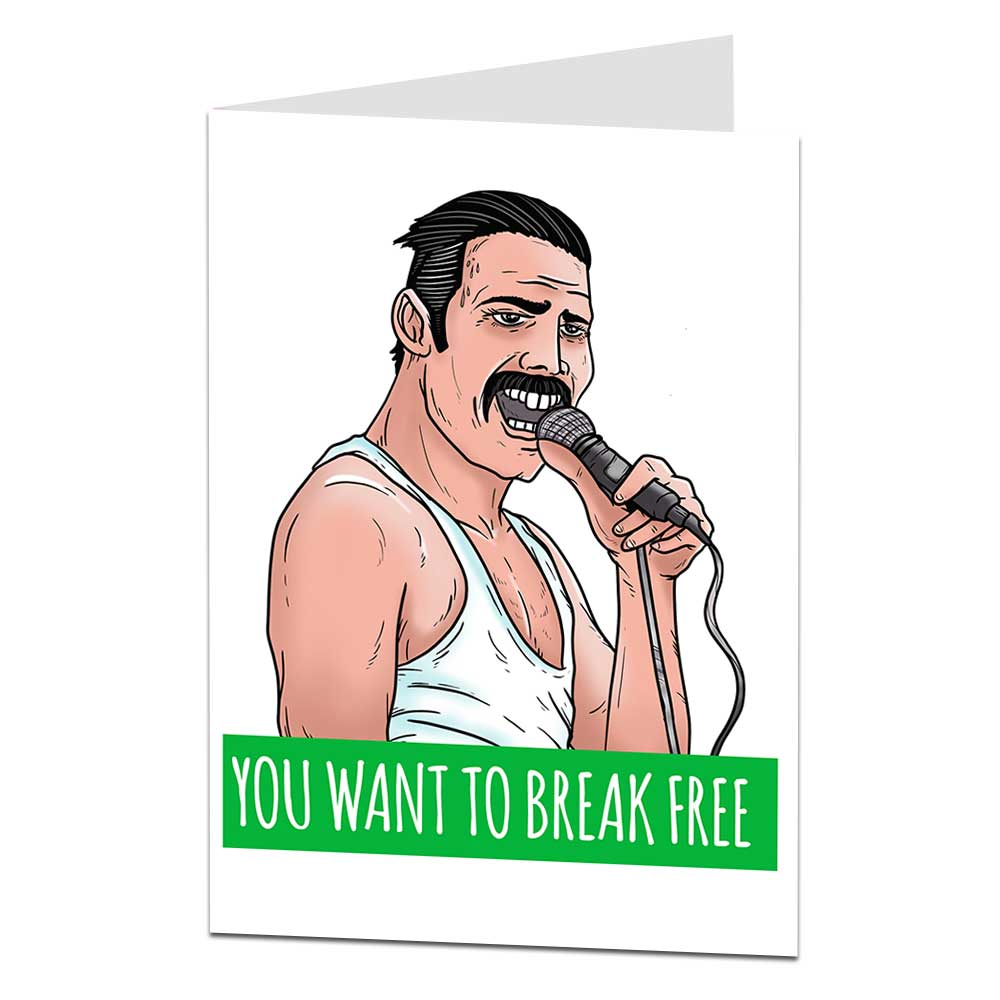 Freddie Mercury Leaving Card