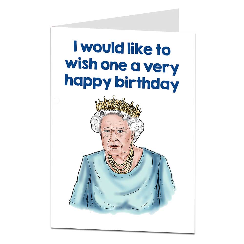 The Queen Birthday Card