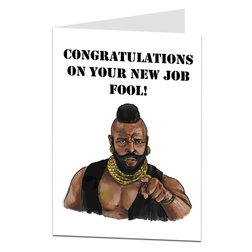 Congratulations New Job Fool