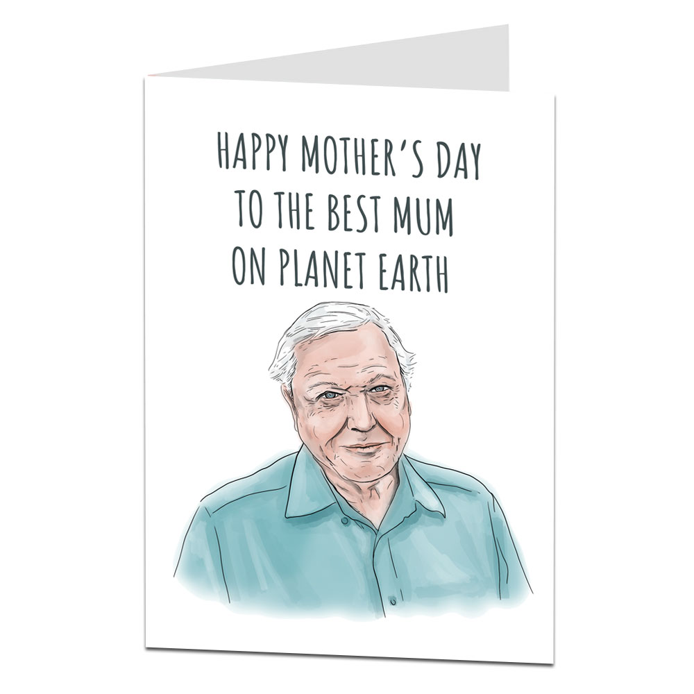 David Attenborough Mother's Day Card