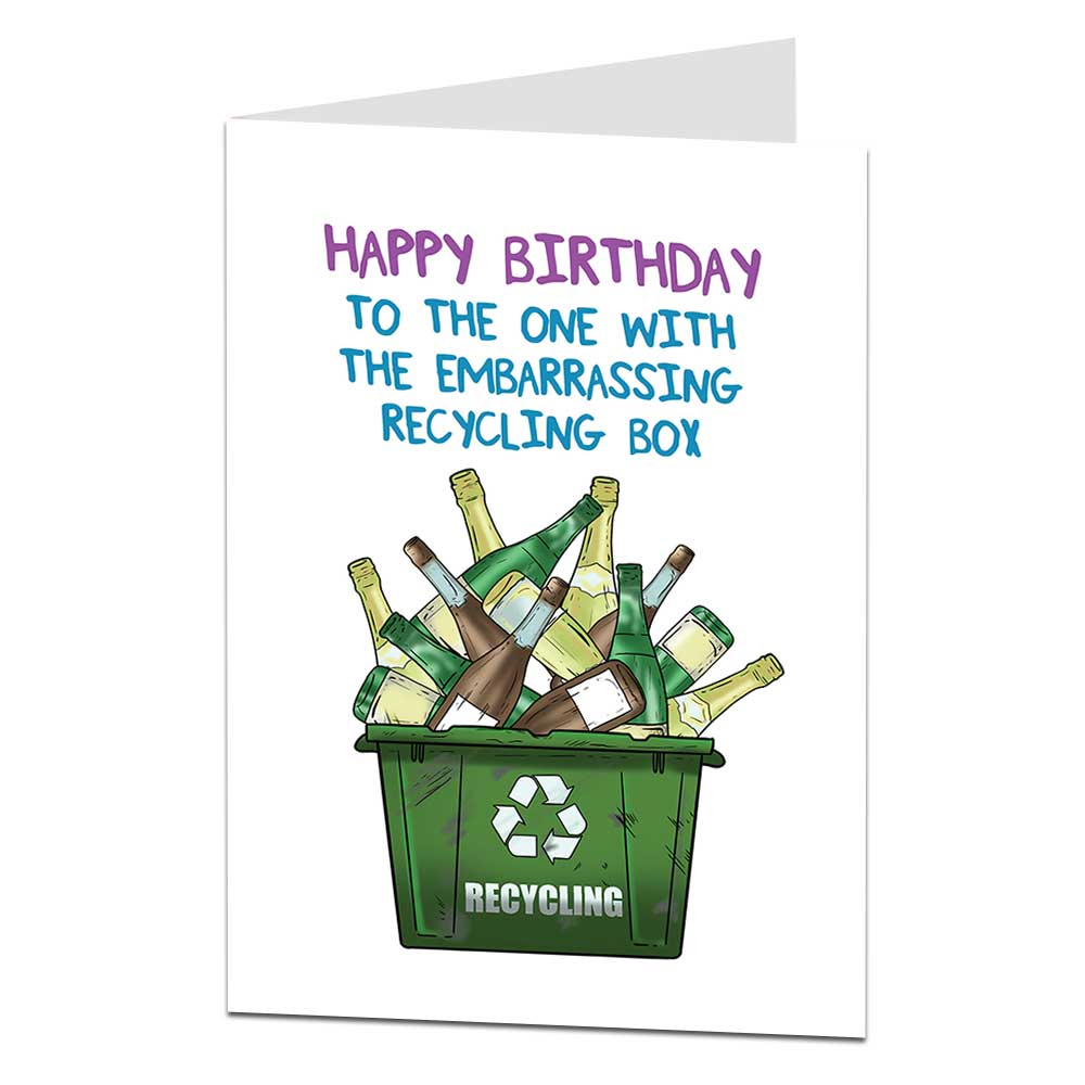 Recycling Box Birthday Card