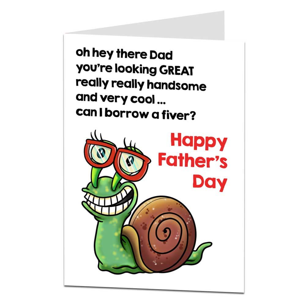 Borrow A Fiver Father's Day Card