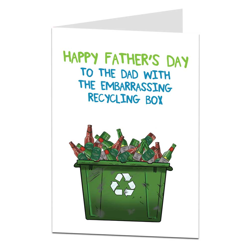 Recycling Box Father's Day Card
