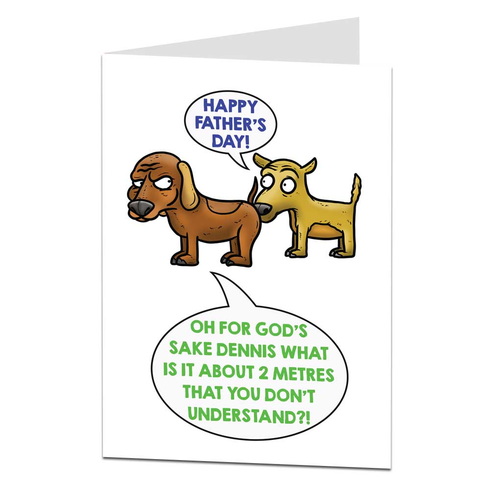 Father's Day Bum Sniff Card