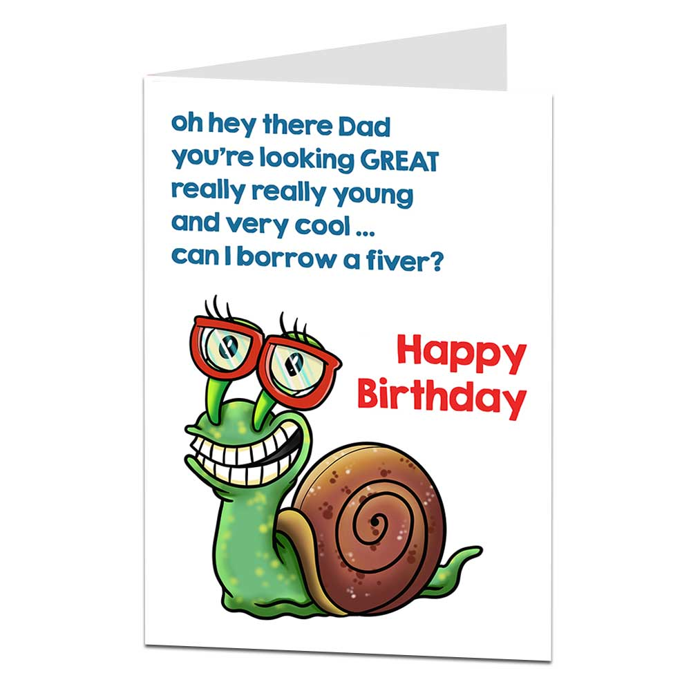 Dad Birthday Card Borrow A Fiver