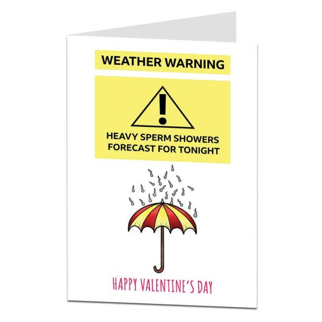Sperm Showers Valentine's Card
